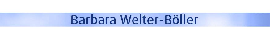Barbara Welter-Böller Titelbild